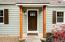 New front door plus freshly painted exterior and new shutters!