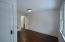 Recessed lighting on the second floor hallways was added to the home.