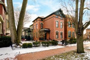 Fabulous location overlooking Schiller Park in historic German Village. Extensively updated while maintaining original historic detailing & adding modern touches for today's lifestyle. Ceilings are high w/rooms flooded w/sunlight, woodwork is crisp white, floors are beautifully refinished throughout including 3rd floor. Current owners completed a gorgeous kitchen w/stone counters, SS appliances & pantry w/an adjoining mudroom which leads to the side terrace. Other features include large master suite w/well-appointed bath, 2nd floor terrace overlooking park, multiple guest bedrooms & bath plus attached garage w/game/media room overhead which offers the potential for a very private guest suite. You will love the curb appeal, outside living spaces & of course, location! See A2A remarks