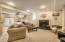 Lower Level walk-out boasts a media room/family room and gas log fireplace #3