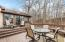 The tiered deck offers a fabulous extension of living space outside.