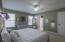 Large master suite with ensuite bath, walk-in closet, ceiling fan/light combo and tons of natural light!