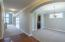 Hardwood flooring in the entry.