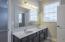Double vanity in Jack & Jill bath!