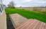 Deck and paver patio.