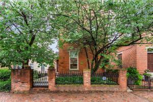 Rare brick Italianate which hasn't been on the market since 1972. This 2 1/2 story home has many of it's original appointments including beautiful woodwork, masonry fireplaces, hardwood floors, super charming kitchen with exposed brick walls, large 3rd floor master suite, rare amount of space and 2 huge windows with incredible downtown skyline views, deep full lot with 2 car garage - tremendous possibilities, room for expansion - quiet German Village location. Charming outdoor spaces include a front patio and privacy fenced back brick patio with gazebo. See A2A remarks.