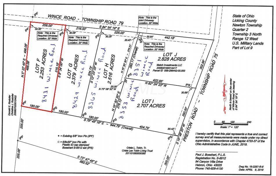 8431 Wince Road, Newark, Ohio 43055, ,Land/farm,For Sale,Wince,219025892