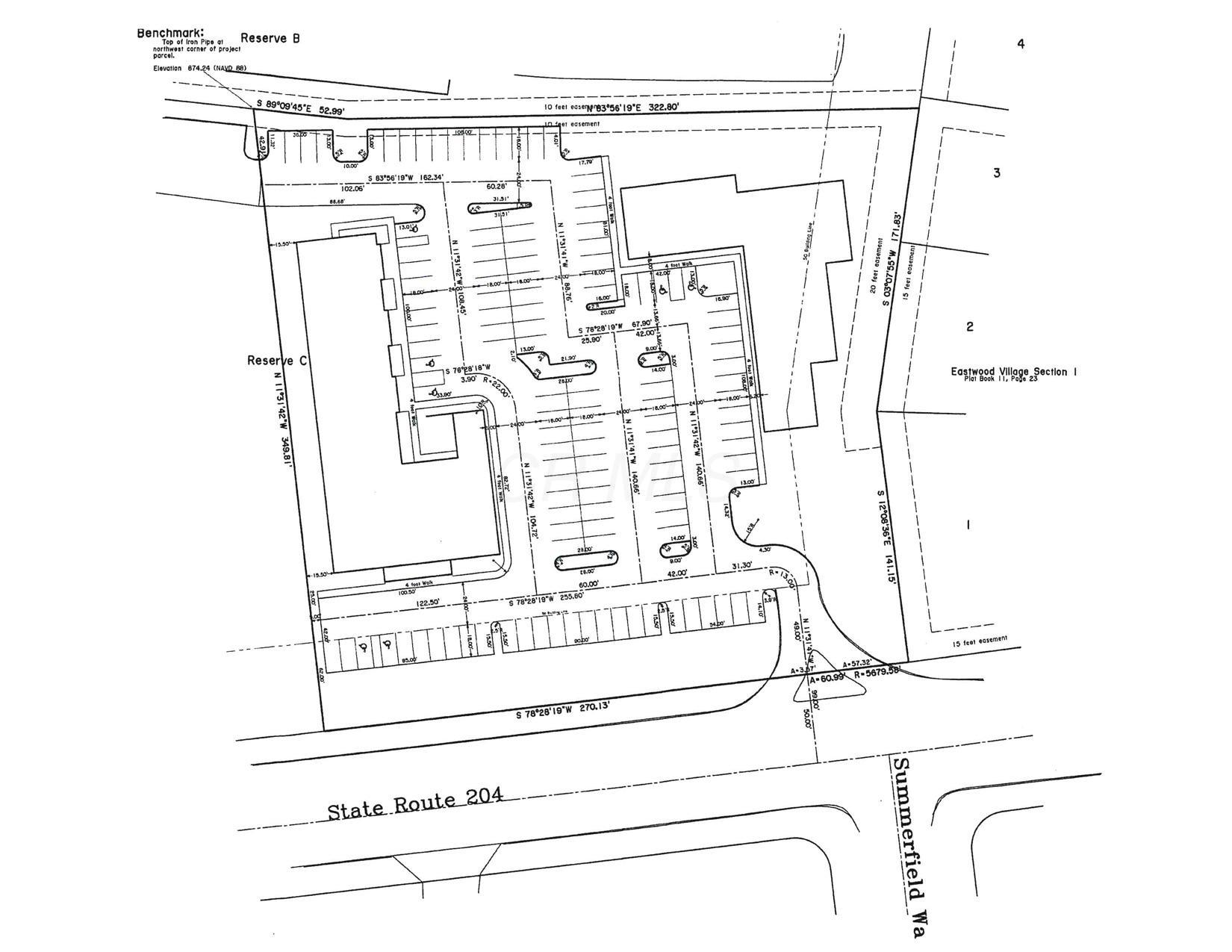 Site Dimension Plan including approved b