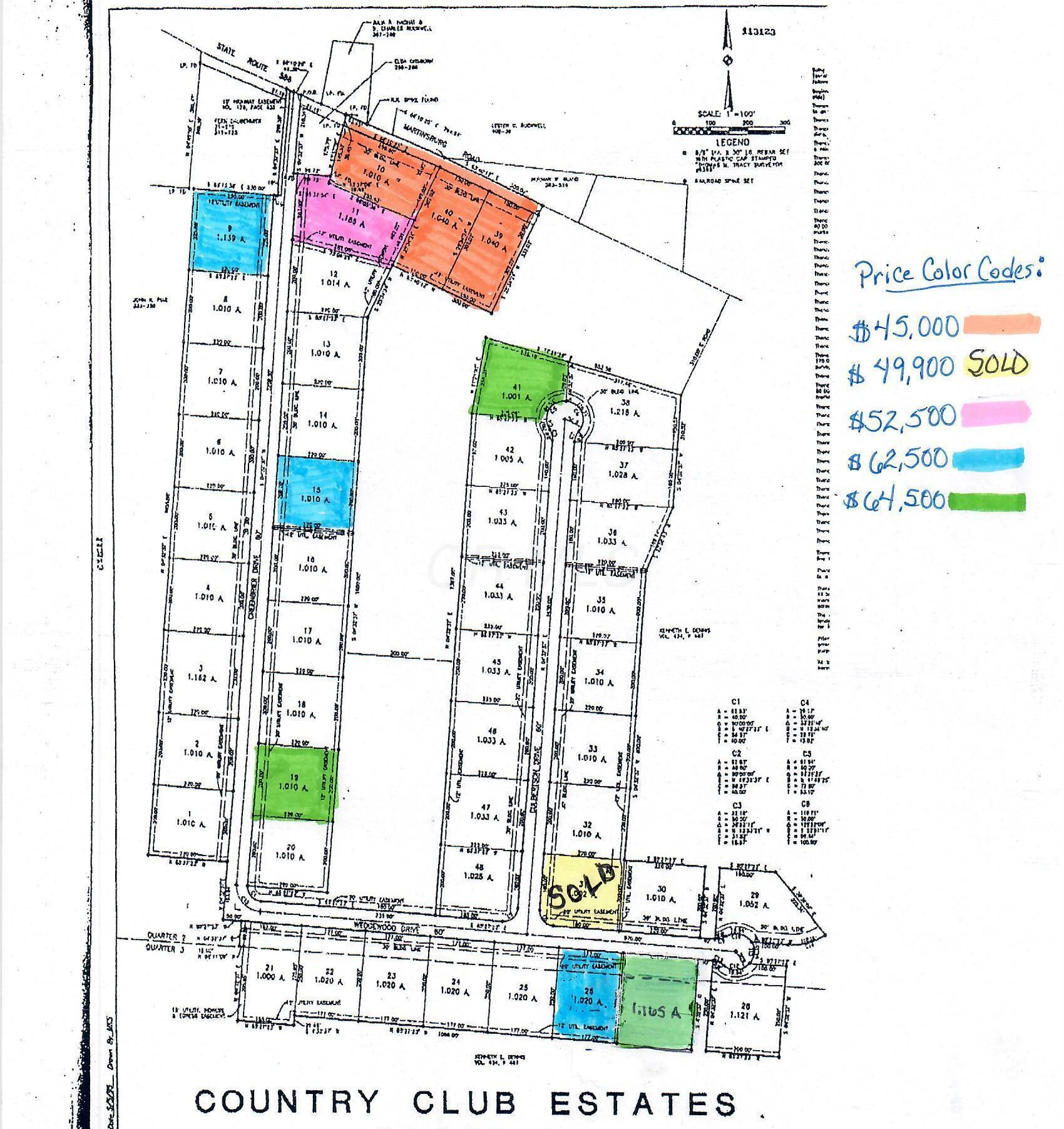 Country Club Estates Lots