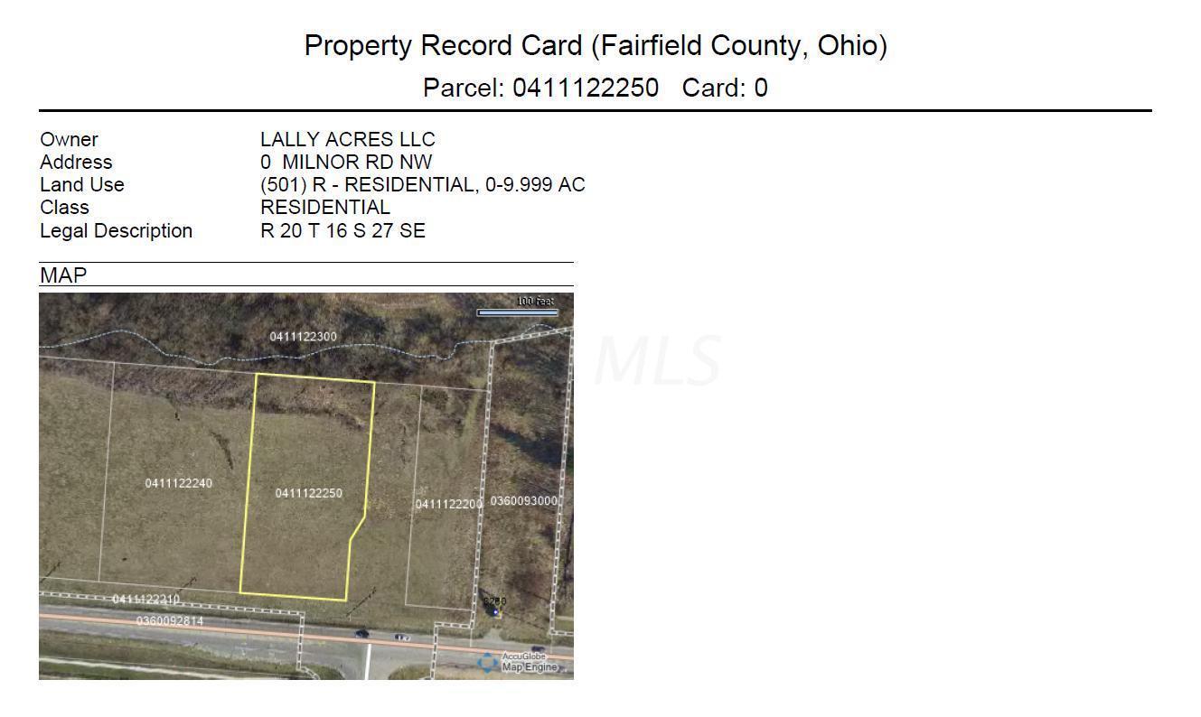 0 Milnor Road, Pickerington, Ohio 43147, ,Land/farm,For Sale,Milnor,220000086