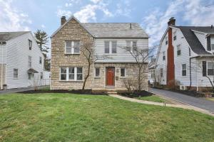 Siding and stone home with slate roof. Impeccably maintained!
