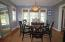 a good size dining room for entertaining families during the holidays