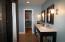 2 double sink vanities with updated lighting fixtures