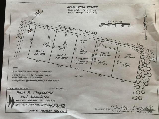 0 Evans Road, Raymond, Ohio 43067, ,Land/farm,For Sale,Evans,220018539