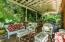 Open Side porch with trellis