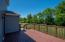 The deck leads to a paver patio - tons of space for outdoor entertaining!