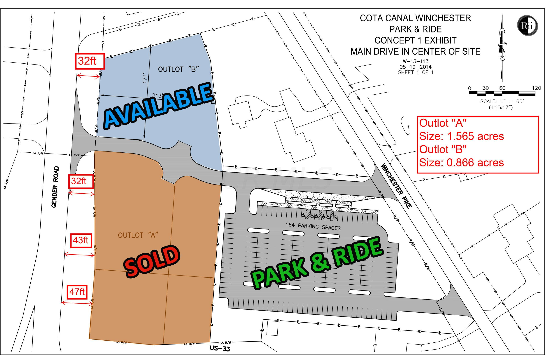 SOLD - COTA CW Concept 1 size of parcels