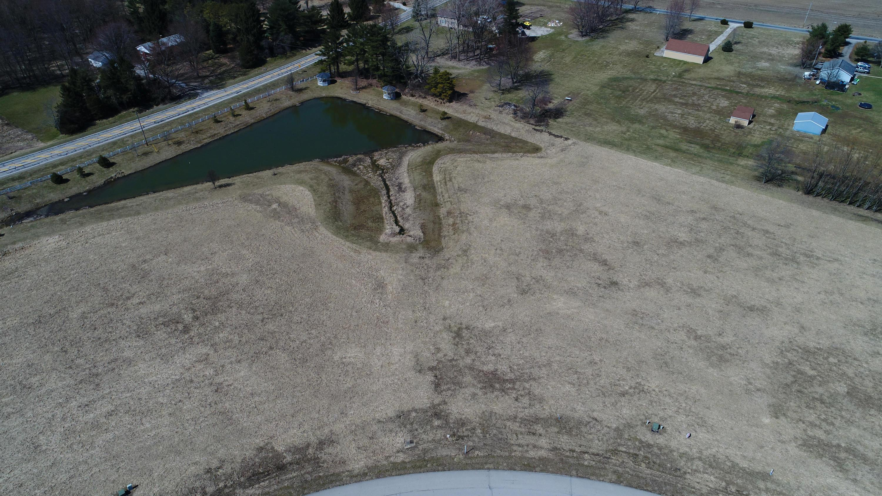 Aerial View of Lots & Pond