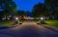 Lighted driveway/entry to 5455 Muirfield Court