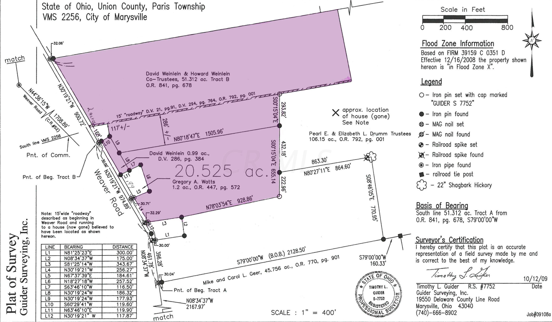 0 Weaver Road, Marysville, Ohio 43040, ,Land/farm,For Sale,Weaver,220025581
