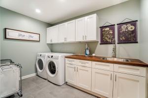 Second floor laundry area