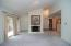 Spacious great room with abundant natural light...