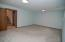 Plenty of space for a theater room, sleeping space, fitness equipment...