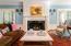 Gorgeously detailed wood-burning fireplace