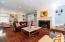 Massive Living Room with hardwood floors