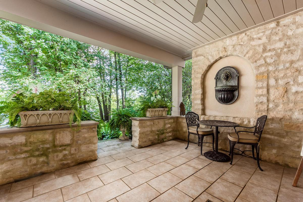 Additional river facing patio