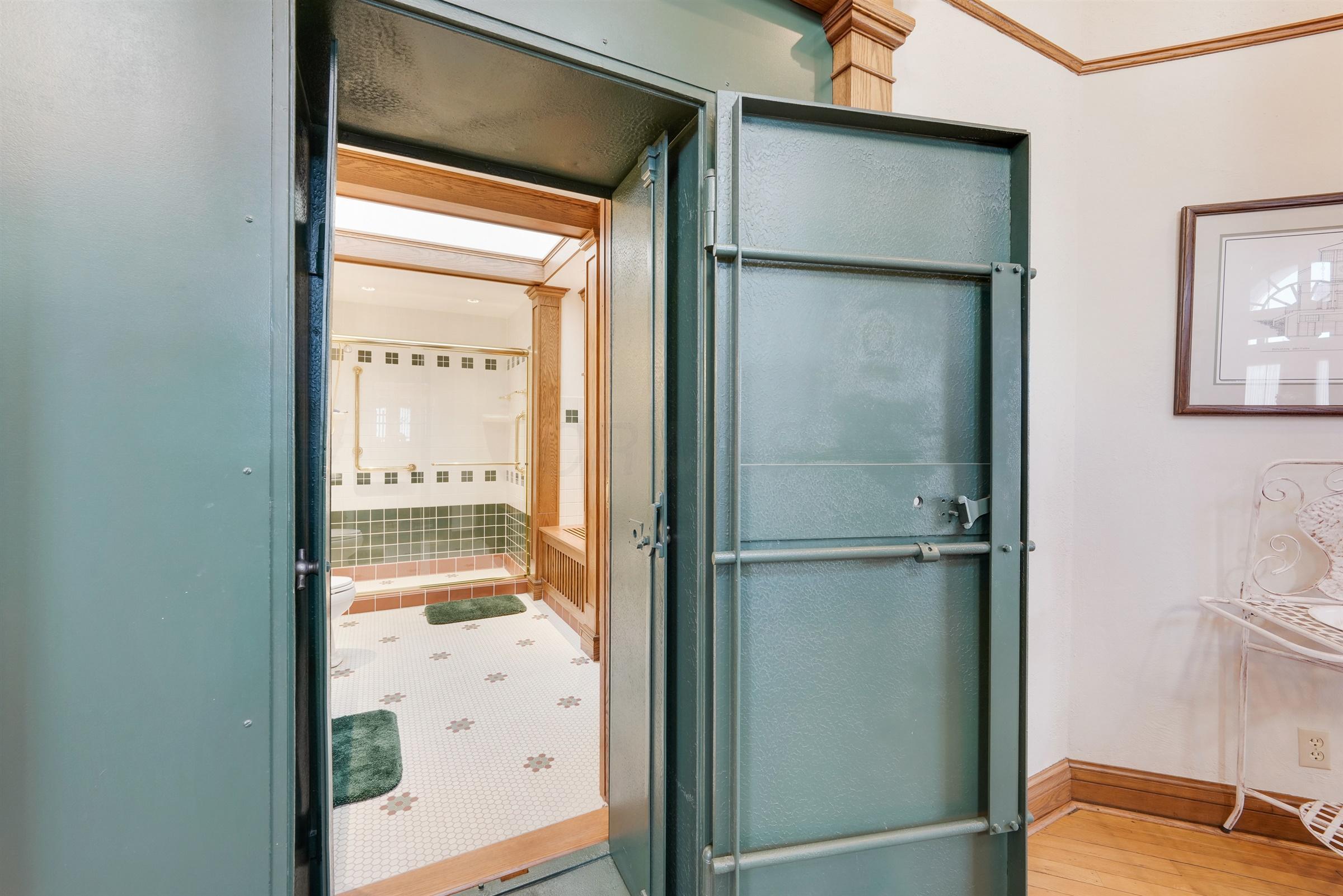 Bathroom Entrance/Vault Door