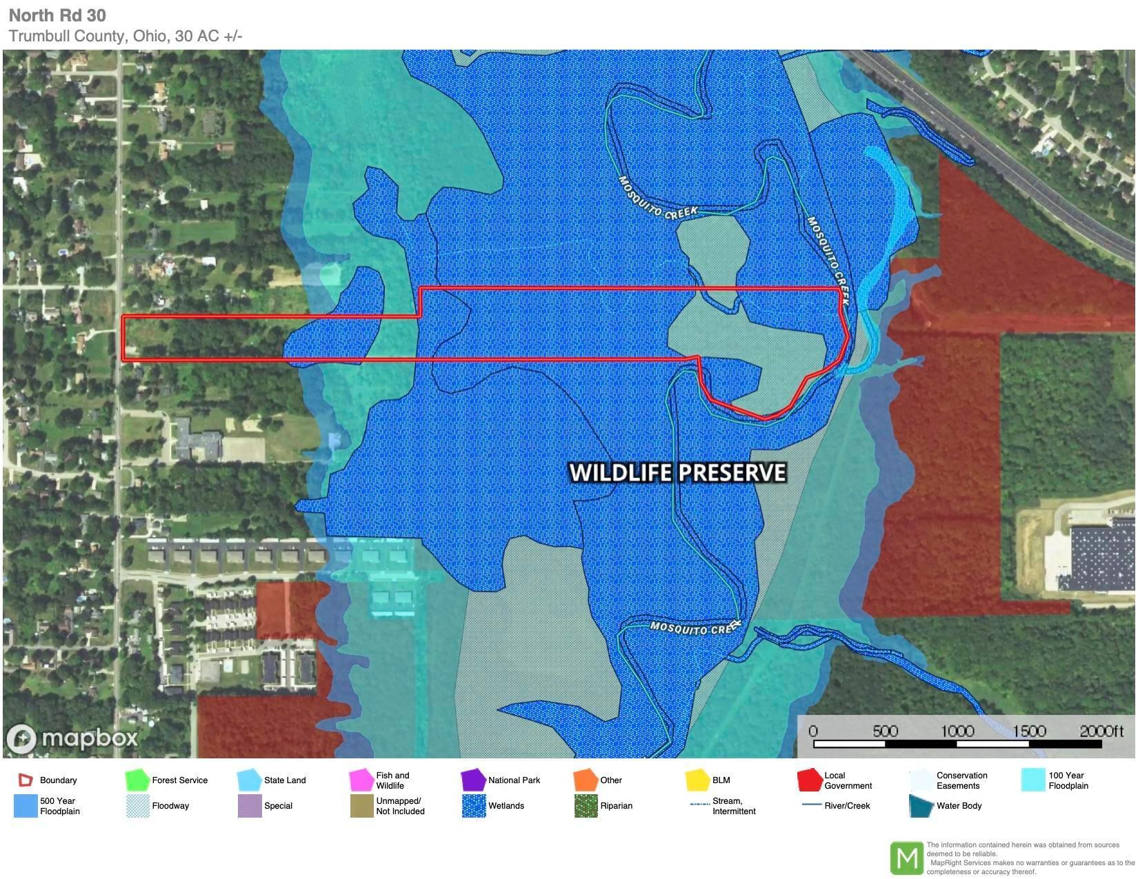 North Rd 30 Wetland and floodplain map c