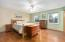 Owner's suite with hardwood floors and plenty of room for a King!
