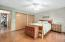 Huge Owner's suite with double closet & ceiling fan!