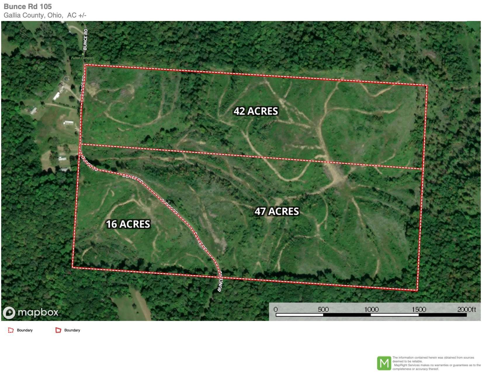 0 Bunce Road, Gallipolis, Ohio 45631, ,Land/farm,For Sale,Bunce,221002142