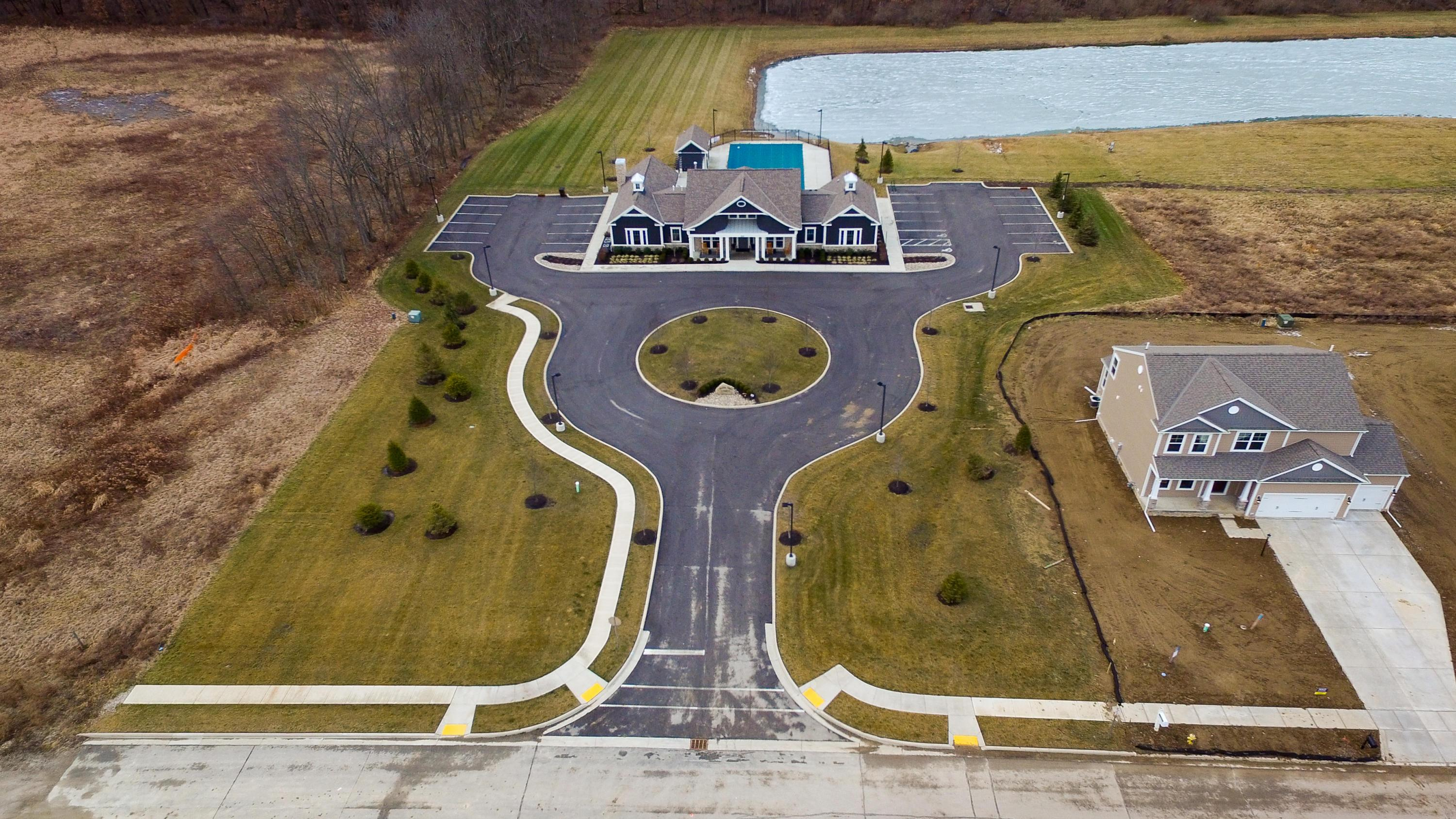 Overhead view of clubhouse