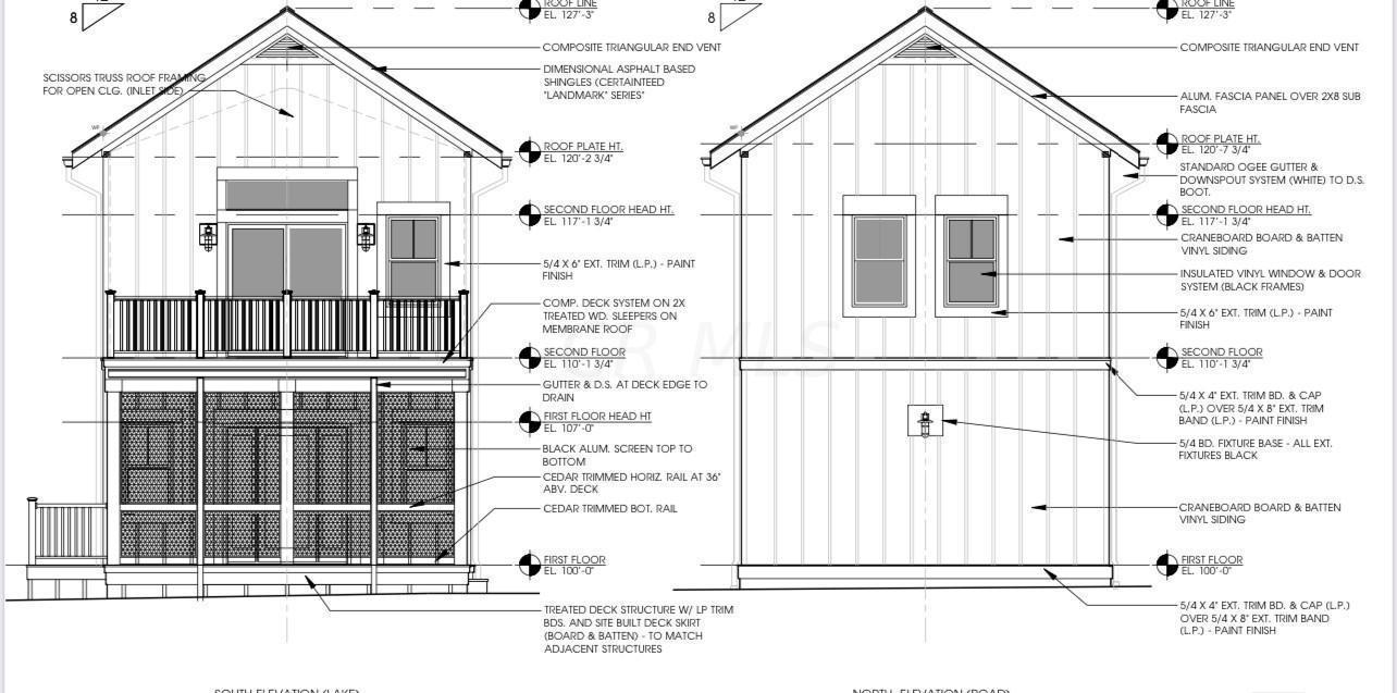 Cottage K elevations