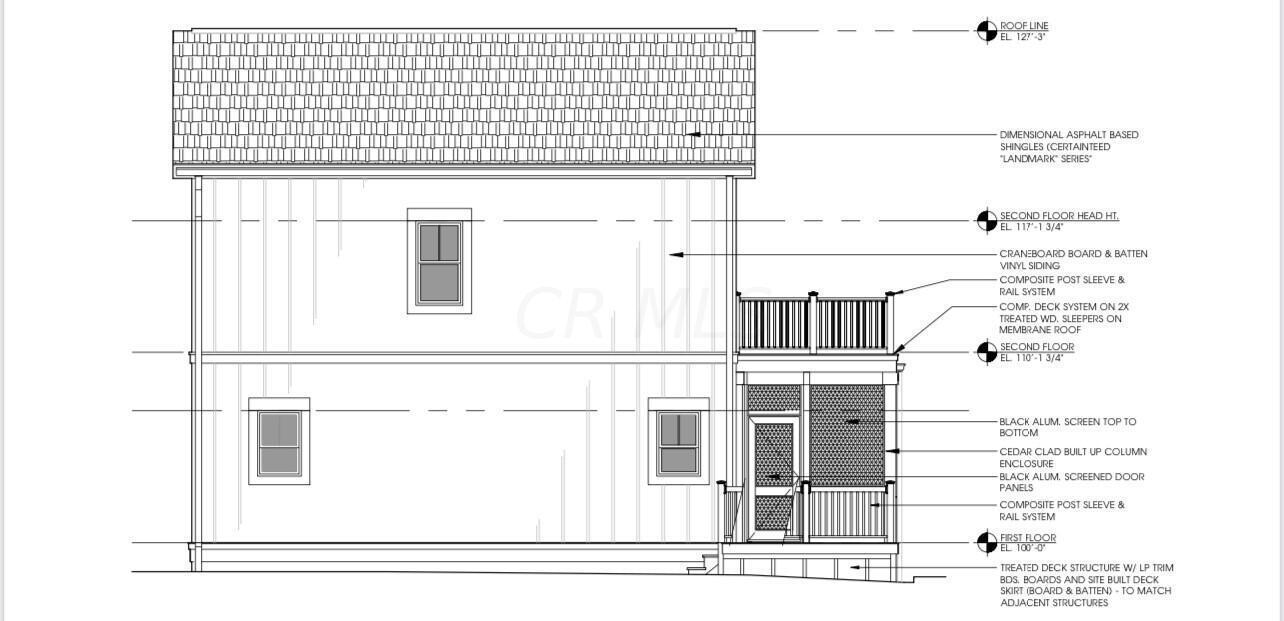 Cottage K side elevations