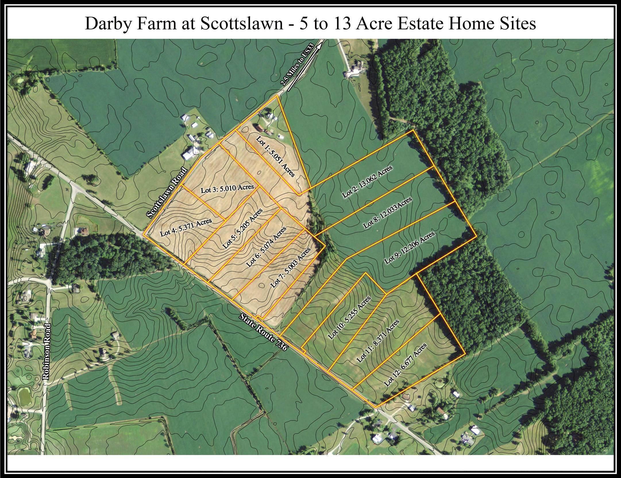 Darby Farm at Scottslawn Aerial w Topo f