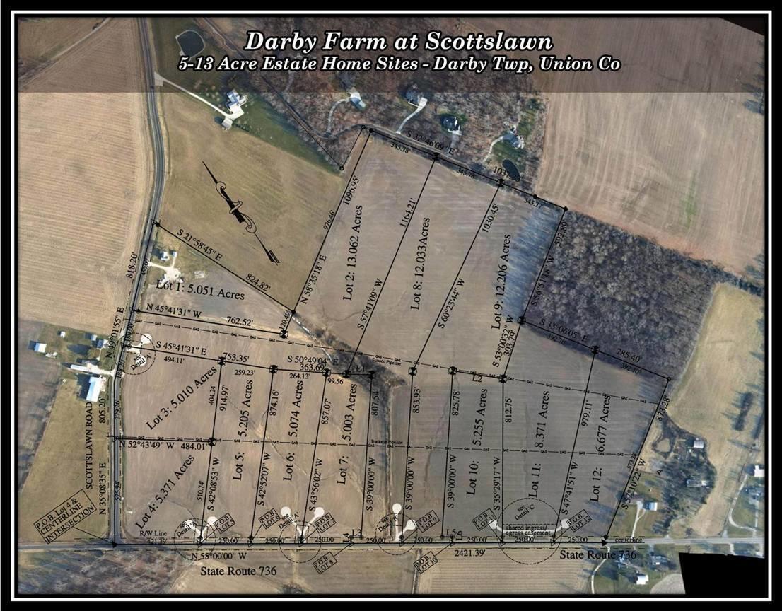 Darby Farm at Scottslawn Drone Aerial fo