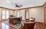 """• Brazilian cherry, hardwood flooring • Ivory painted walls • Can lighting • (2) lighted closets • Built-in bookcases • Lighted ceiling fan • 2"""" blinds remain"""