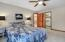 • Light sand carpet • Tan painted walls • Lighted ceiling fan • Shades remain