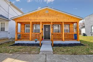 • Wood & Vinyl Exterior • Front Covered Porch • Porch Lights • New Front Door • Rear Flood Lights • Rear Porch Light • Rear Storm Door • Fenced Patio • Remodeled Kitchen • Remodeled Baths • Nest® Security System Remains • First Floor Laundry Room • New Detached Garage ~ 2020 • Gas Furnace In Attic