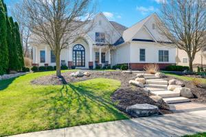 STUNNING custom built 5 BD, 4.5 BA home by Romanelli & Hughes on a wooded lot in Willow Bend. Open floorplan features a 2-story great room with HUGE windows overlooking backyard. GOURMET kitchen features granite countertops & SS appliances. The EXPANSIVE first floor owner's suite offers plenty of space, PRIVATE access to backyard, spa-like bath with large walk in closet. On the main level you will find a dining room, office, laundry, 1/2 bath, and mudroom with storage. Step outside onto the BEAUTIFUL multi-level patio that is perfect for entertaining & family gatherings. Upstairs you will find an addt'l three bedrooms and a large flex space. The SPECTACULAR lower level features a full kitchen, bar/tasting room, addt'l bedroom, full bath, and lots of unfinished storage. Olentangy schools.