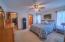 Owners suite has a huge walk in closet ceiling fan