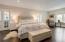 Hardwood flooring, sitting area, luxe spa bath and multiple closets.