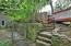 Steps leading up to the back deck from the Dog Run