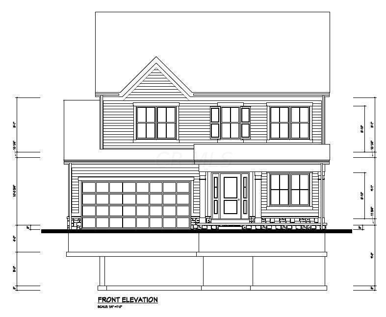 3 E Genessee Ave - Front Elevation