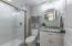 Ensuite owner's bath with walk-in shower!