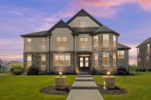 A grand entrance to a grand home